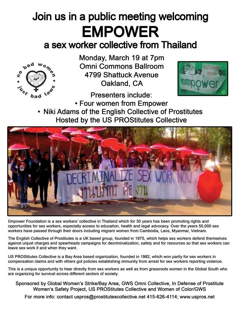 Sex workers organizations if the bay area