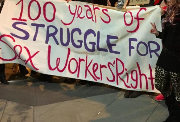 Sex Worker March Banner